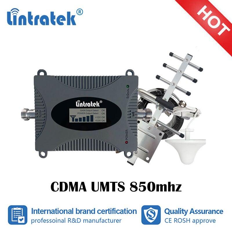 LTE 850mhz GSM CDMA UMTS Celular Reforço de Sinal Lintratek 2g 3g 4g Cellular 850 Repetidor Móvel amplificador Repetidor do telefone Set ss