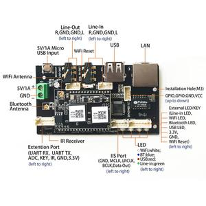 Image 2 - Up2Stream פרו WiFi ו Bluetooth 5.0 HiFi אודיו מקלט לוח עם spotify airplay dlna אינטרנט רדיו והזרמת מוסיקה