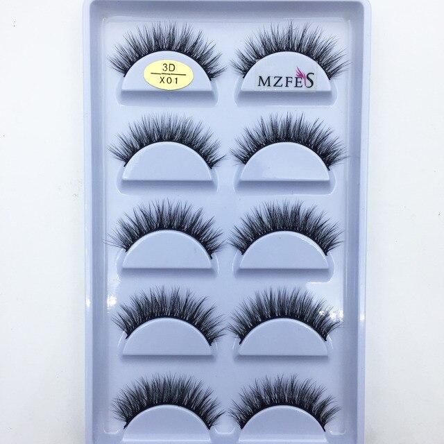 33 Style 10/50/100 Boxes 5 Pairs Natural 3D Mink False Eyelashes Makeup Fake Eye Lashes Faux Cils Make Up Beauty Tools Wholesale 4