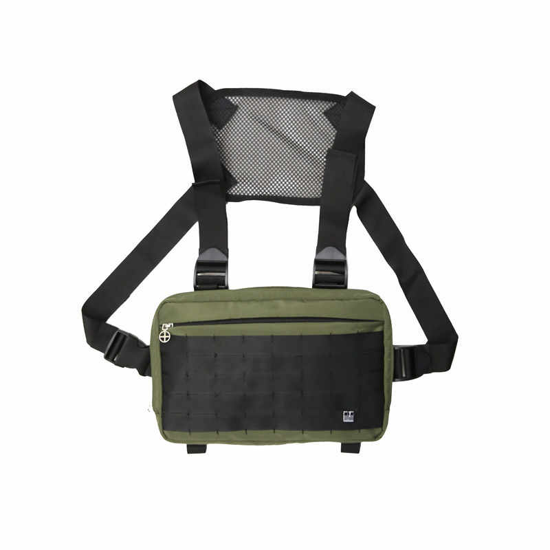Outdoor 1000D Nilon Pria Berburu Rompi Tas Multifungsi Adjustable Taktis Dada Rig Bahu Pinggang Paket Tas Rompi
