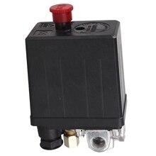 Сверхмощный переключатель давления для воздушного компрессора клапан управления 90 PSI-120 PSI черный