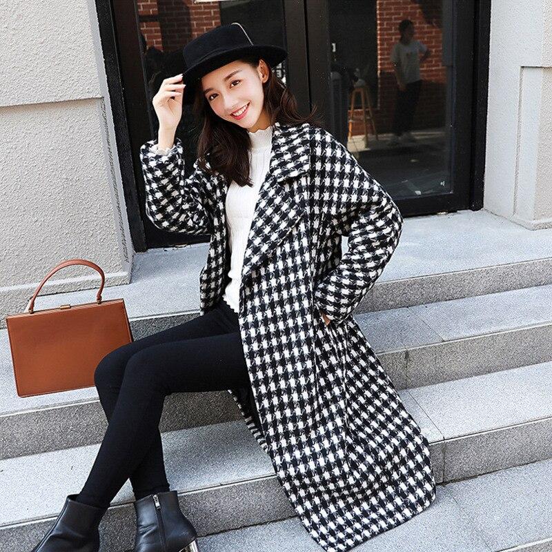 Смешанные женские черные универсальные корейские толстые высококачественные женские длинные пальто Зимняя верхняя одежда для женщин s ...