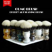 OUMO BRUSH 2019/8/1 CHUBBY Art shaving brush with SHD fan Manchuria badger knot gel city 26MM