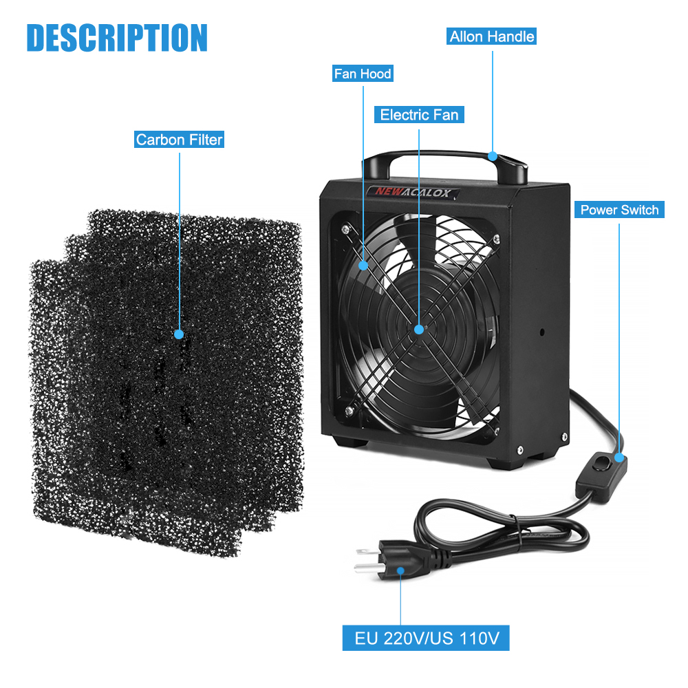 NEWACALOX Filter Remover Absorber Device Air 30W US Fume Smoking Prevention EU Solder Smoke Absorber Fan Extractor Smoke