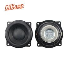 GHXAMP 2.25 inch Wool Full Range Speaker 8OHM 10W neodymium Long Stroke Bluetooth Audio Speaker small steel gun 60*60mm 2PCS