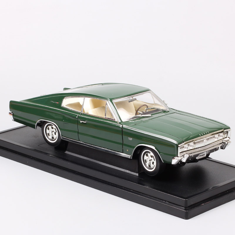 1:18 scales old 1966 Dodge Charger fastback muscle cars Chrysler sports racing Diecast Vehicles model of kids Toy souvenir child