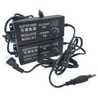 Fuente de alimentación ajustable de CA a CC 3V 5V 6V 9V 12 V 15V 18V adaptador de fuente de alimentación 24V 1A 2A 5A adaptador Universal de 220V a 12 V voltios