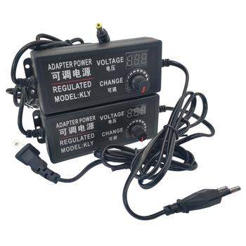 Regulowany zasilacz prądu zmiennego na prąd stały 3V 5V 6V 9V 12 V 15V 18V 24V 1A 2A 5A Adapter do zasilacza uniwersalny Adapter napięcia 220V do 12 V tanie i dobre opinie ZUCZUG Podłącz 5 5mm * 2 1mm 3-12V 3-24V 9-24V Adjustable adapter Przełączania Power Supply 3V 5V 6V 9V 12V 15V 18V 24V