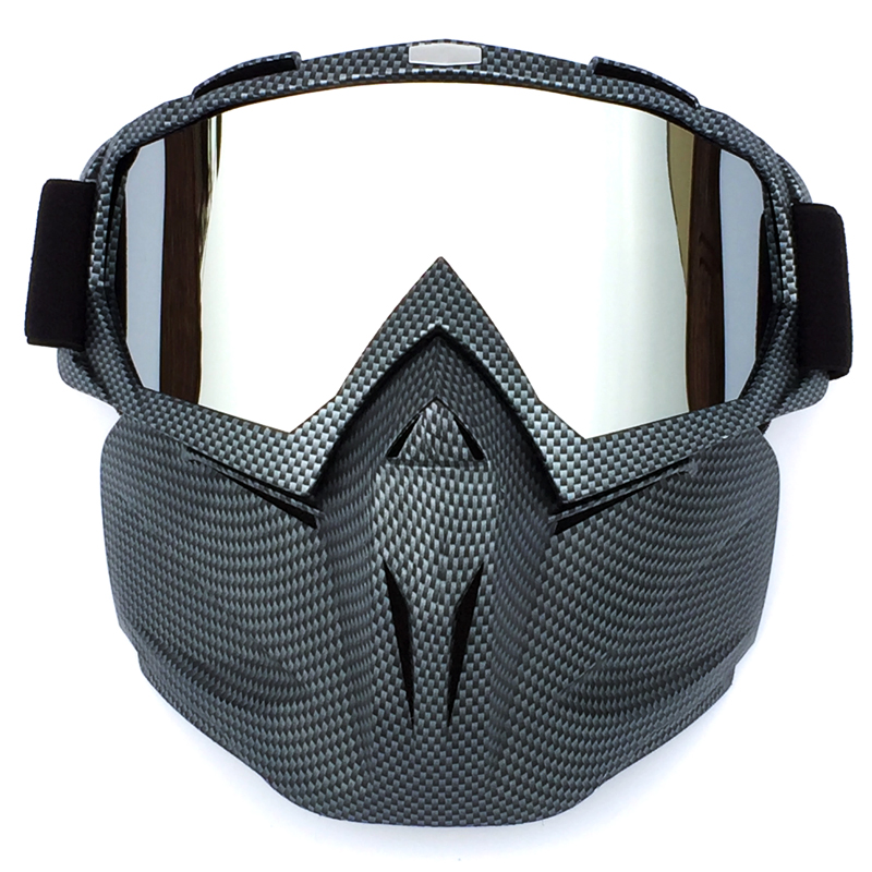 Men Women Ski Snowboard Mask Winter Snowmobile Skiing Goggles Windproof Skiing Glass Motocross Sunglasses With Mouth Filter