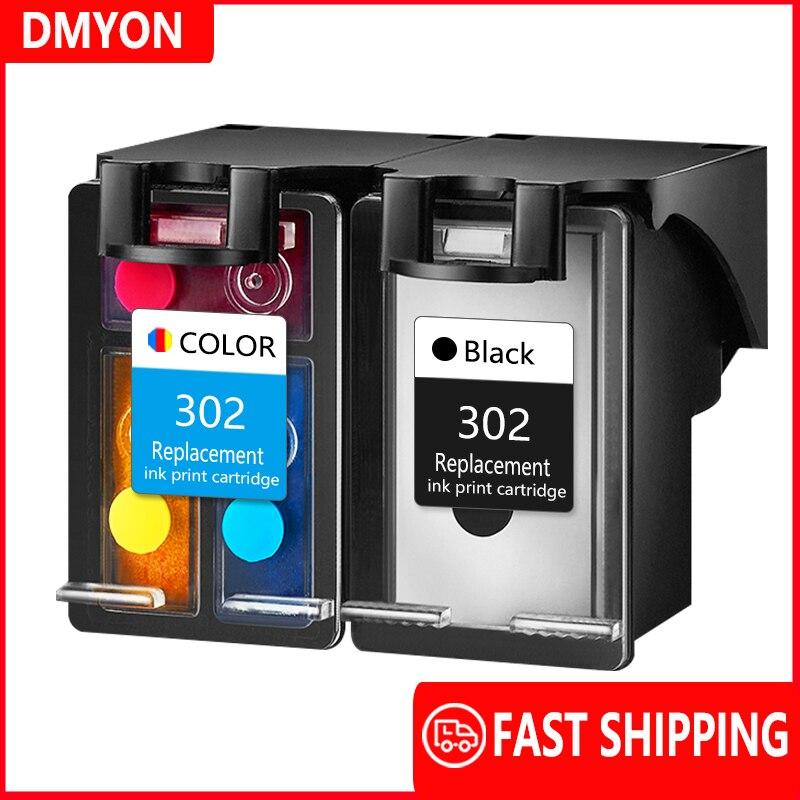 DMYON 302 Ink Cartridge Compatible For Hp 302 For Deskjet 1110 1112 2130 2135 3630 3632 3830 3834 Officejet 4650 4652 Printers
