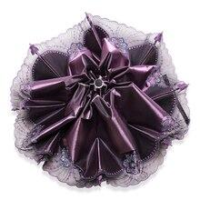 Folding Lace Umbrella Parasol Rain Women Strong Sonnenschirm Kids Umbrellas for Girl  Wedding UV Flower Ladies 5RR024