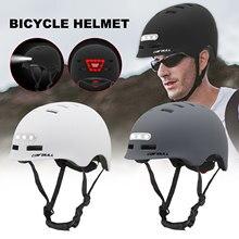 Venda quente bicicleta equitação capacete com frente luzes traseiras noite ciclismo capacete com casca dura