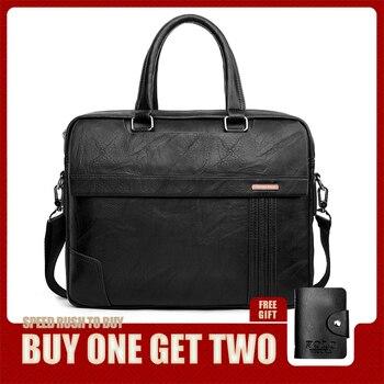 VIKUNJA POLO Große Kapazität Leder Herren Aktentasche Tasche Klassischen Business Büro Tasche Für Männer Schulter Tasche Herren Handtasche Neue Ankunft