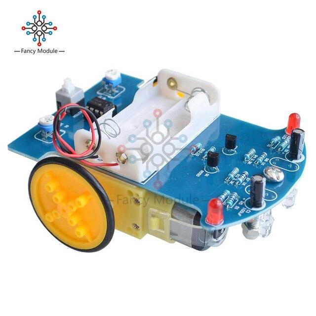 D2 1 سيارة روبوت الذكية مجموعات تتبع سيارة أجزاء روبوت حساس للضوء لتقوم بها بنفسك لعبة كهربائية