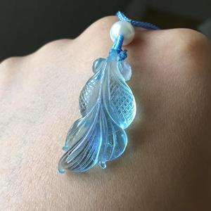 Image 5 - Natuurlijke Blauwe Aquamarijn Vis Hanger Kristal Voor Vrouwen Mannen 32X14X8Mm Stone Healing Beste Steen Hanger aaaaa