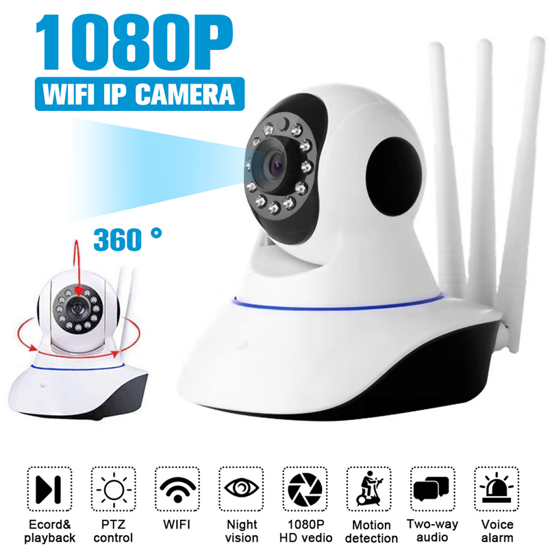 HD1080P Wireless WIFI IP Camera Home Indoor Security Monitor Smart Network Video System Two Way Audio / Night Vision / PTZ / APP