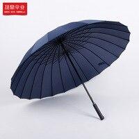Anpassbare Übergroßen 24 Knochen Lange Griff Gerade Pol Business Regenschirm Großhandel Winddicht College Stil Sun beständig Busin| |   -