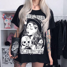 Уличная футболка goth girl в стиле Харадзюку женские готические