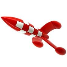 30 cm as aventuras de tintin moulinsart luar foguete tintim estatueta brinquedo brinquedos figurais coleção modelo gif