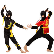 Kids Ninjago Clothes Sets Ninja Costumes Christmas Party Boys Girls Warrior Stealth New Year Purim Cosplay Assassin Costume(China)