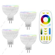 Dimmable Led Lamp 4W MR16 12V Mi Light RGB CCT (2700-6500K) Smart LED Spotlight Bulbs + 2.4G RF Remote Control For Home Lighting