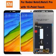 Orijinal LCD Xiaomi Redmi için not 5 Pro başbakan LCD ekran için çerçeve ile dokunmatik ekran Xiaomi Redmi not 5 note5 Pro LCD ekran