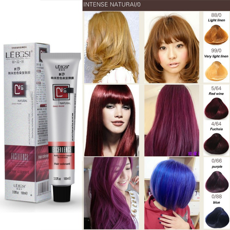Beauty No Ammonia Type Hair Dye Cream Permanent Constant Not Hurt Hair Coloring Root Cover Hair Color Cream Styling Women Men image
