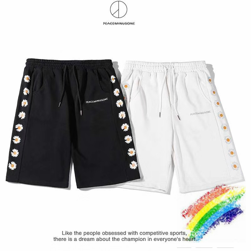 2020SS Peaceminusone FRAGMENT Men Shorts Summer Style Beach Sportswear Streetwear Peaceminusone Shorts