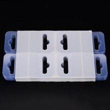 200 pces 4.5*4cm pvc slot buraco adesivo pendurar abas tag gancho para loja varejo display auto-adesivo merchandising pendurar abas
