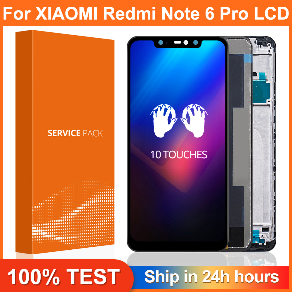 AAA Quality for Xiaomi Redmi Note 6 Pro LCD Display with Frame Touch Screen Digitizer LCD For Redmi Note6 Pro Assembly|Mobile Phone LCD Screens|   - AliExpress
