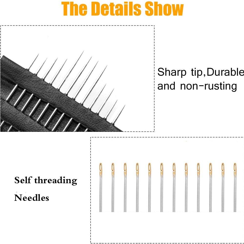 12 шт швейные иглы из нержавеющей стали