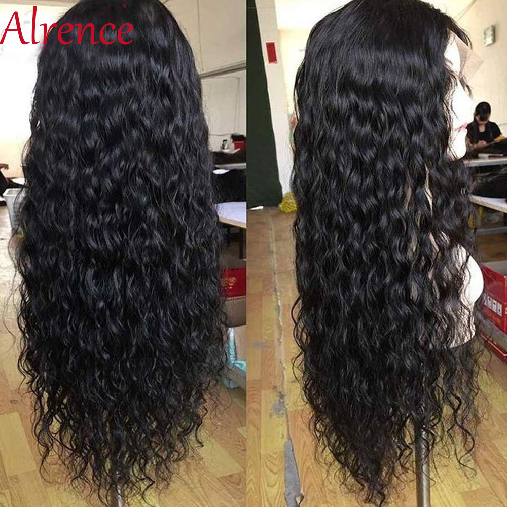 Raw Indian Hair Deep Wave Wig Glueless Lace Front Human Hair Wigs Pre Plucked For Black Women Deep Curly Remy Wig Natural Hair