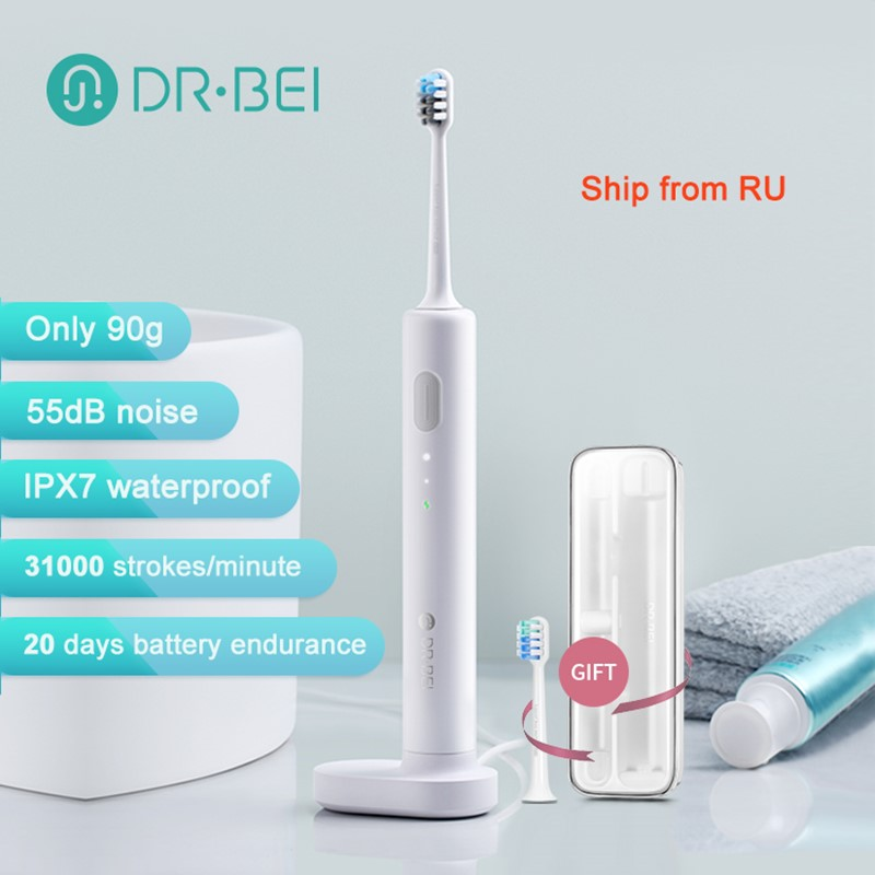 DR.BEI Sonic Electric Toothbrush Rechargeable Waterproof Electrial Ultrasonic Whitening Teeth Brush Tooth Cleaner Xiami Xiomi