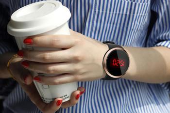 Moda wodoodporny męski ekran dotykowy LED data data silikonowy zegarek na rękę zegarki meskie zegarek meski saat erkek tanie i dobre opinie Sanwony STAINLESS STEEL 3Bar Moda casual Cyfrowy Sprzączka ROUND erkek kol saati bez opakowania reloj deportivo hombre