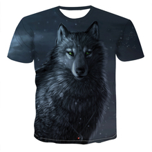 2020 new Summer fashion T-shirt Men Streetwear Round Neck Short Sleeve Tees Funny Animal Male Clothes Casual Wolf 3D Print Tops