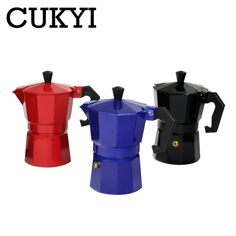 CUKYI 6 Cups 300mL Non-electrical Coffee Kettle Aluminum Material Stovetop Coffee Maker With High Quality Metal Filter Screen