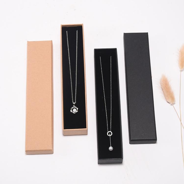 PK-003 Jewelry Packaging Box Jewelry Box Classic Gift Box Made Of Kraft Paper And Sponge Liner