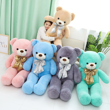 лучшая цена 1Pcs Kawaii Cute Teddy Bears Plush Toys Stuffed Animals Bear Dolls Soft Kids Toys Big Size Plush Brown Baby Girls Birthday Gift