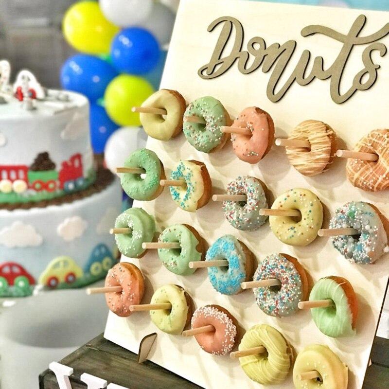 Детский праздничный пончик, украшение для вечерние ринки, подставка для пончиков, настенные шары с цифрами для свадебного декора, Детские п...