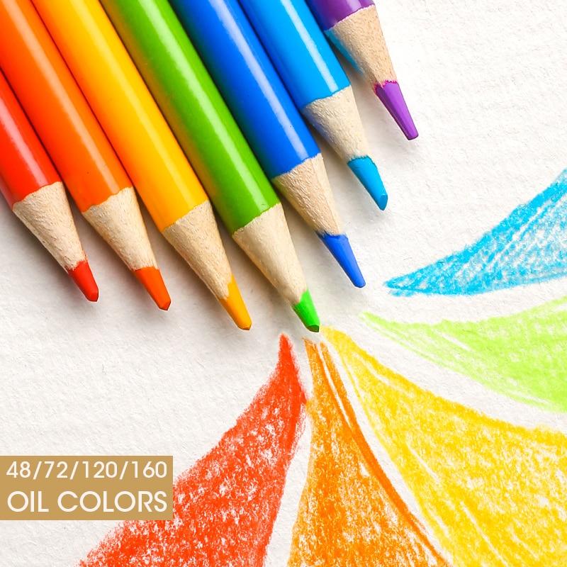Andstal 48/72/120/160/180 Professional Oil Color Pencil Set Watercolor Drawing colored pencils wood colour coloured pencils kids 6