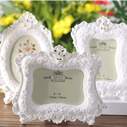 6/7 Inch Classic Photo Frame European-Style Quality Resin Wedding Party Home Desktop Decoration Picture Frames Birthday Gifts