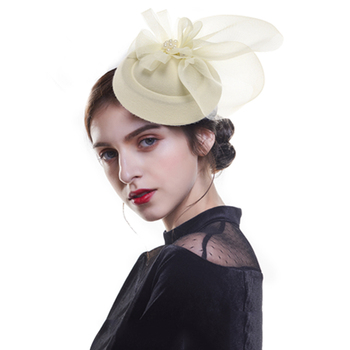 Kerri-Bow Bowler Hat Fascinator – Black