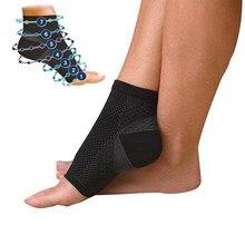Calcetines de compresión transpirables con puntera abierta para hombre, medias elásticas para reducir la fatiga, calcetín de refuerzo para exteriores, 1 par