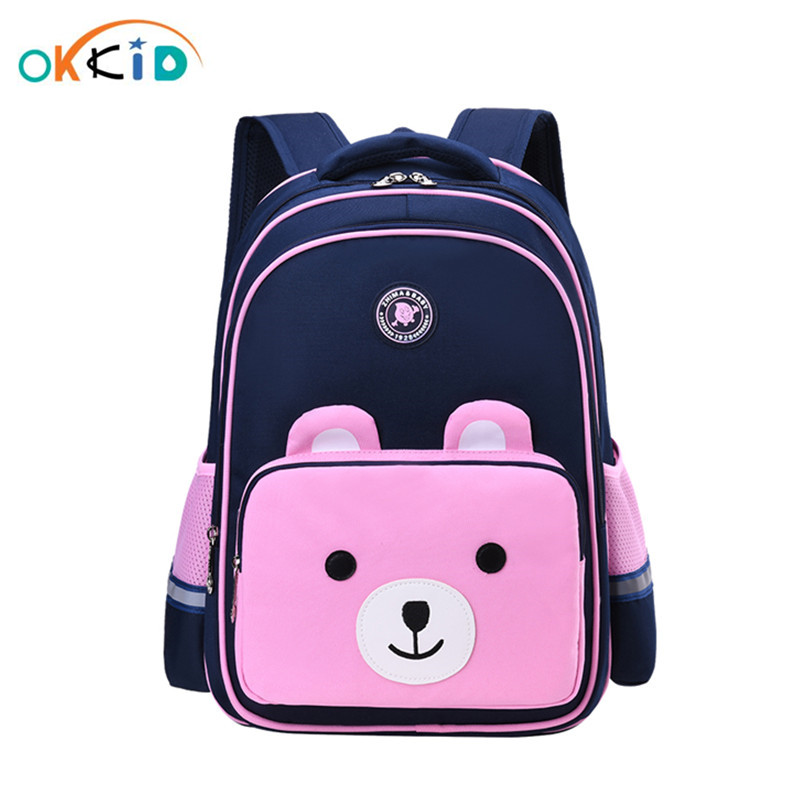 OKKID Children School Bags For Girls Kawaii Book Bag Girl Gift Elementary Student Backpack Kids Cute Pink Backpack Dropshipping
