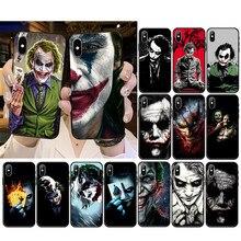 Mroczny rycerz Joker Karta etui na telefon iPhone 12mini 12 11 ProMax XS MAX XR SE2020 8 7 6 6S Plus X 5 5S SE
