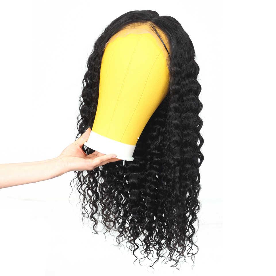 Brazylijska peruka water wave 13x4 koronkowa peruka na przód krótki bob glueless koronki przodu włosów ludzkich peruk dla kobiet nie Remy 150% gęstości