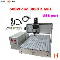3 achsen CNC 3020 Gravur Maschine 500w Spindel Motor mit USB Port MACH3 Control 2030 holz CNC Router-in Holzfräsemaschinen aus Werkzeug bei