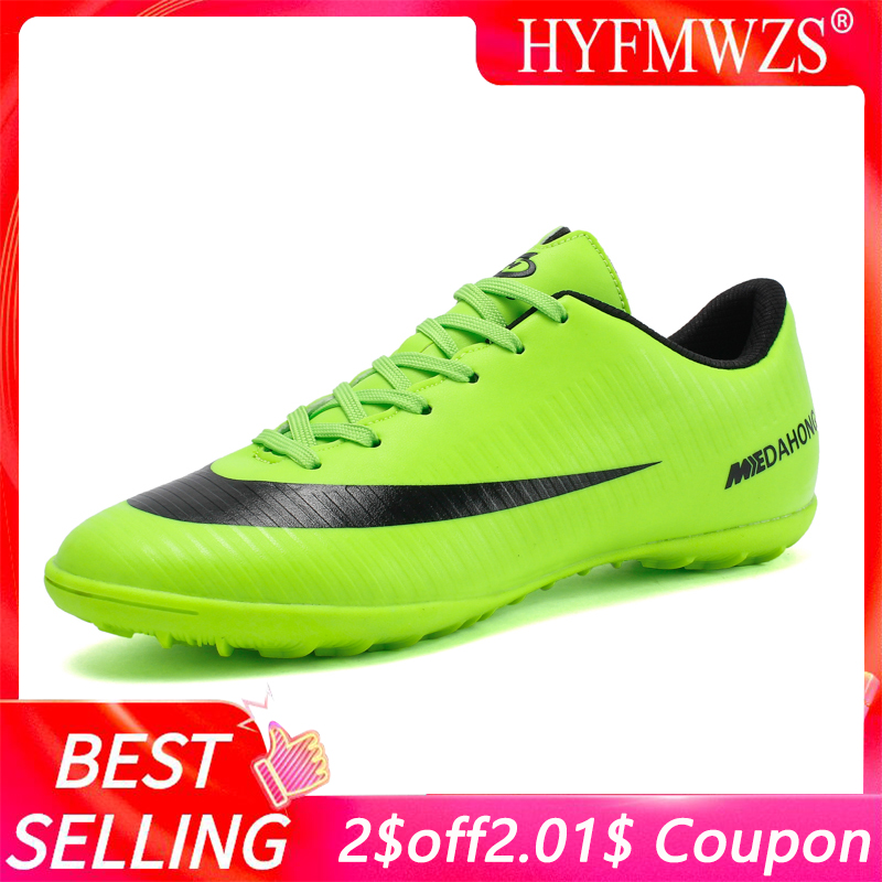 HYFMWZS Indoor Superfly Breathable Chuteira Futebol High Quality Cheap Men Soccer Shoes Superfly Original TF Kids Football Boots