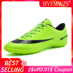 Hyfmwzs superfly indoor respirável chuteira futebol alta qualidade barato sapatos de futebol dos homens superfly original tf crianças botas de futebol