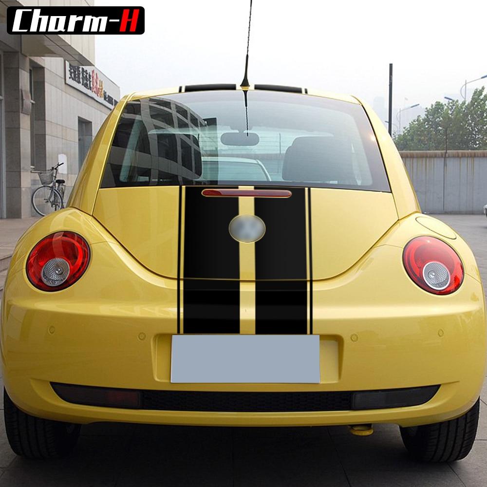 Side Stripe kit Sticker for Volkswagen beetle 2003 2004 2005 roof top graphics